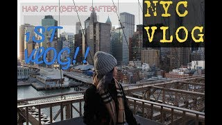 1ST VLOG | Hair Appt + NYC VLOG!!! | Beatsbylups