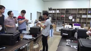 [프린터온 프린터 기술교육]  캐논 MAXIFY MB2390 금형카트리지 공급기 호스 결합방법