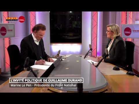 Marine Le Pen est l'Invité de la matinale du 31/01/18