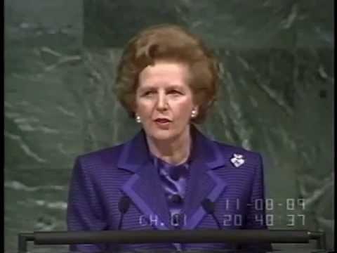 Margaret Thatcher - UN General Assembly Climate Change Speech (1989)