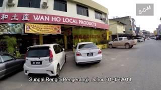 Sungai Rengit Town at Pengerang Johor - 01-May-2014