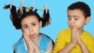 بللت شعر الأميرة I wet the hair of the princess!!