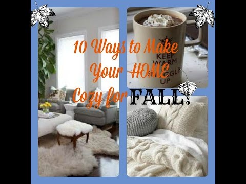 10 Ways to Make Your Home Cozier for FALL II Collab w/ CrafTea Mom