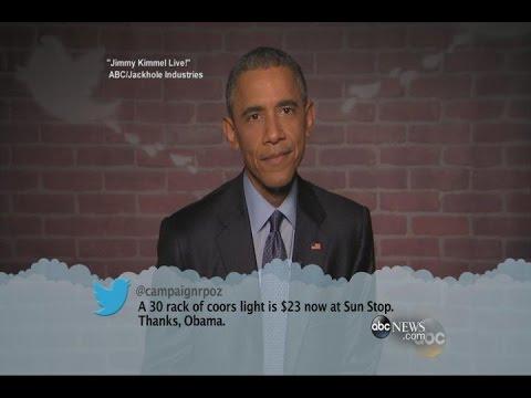 "Mean Tweets: President Obama on ""Jimmy Kimmel Live!"" - YouTube"