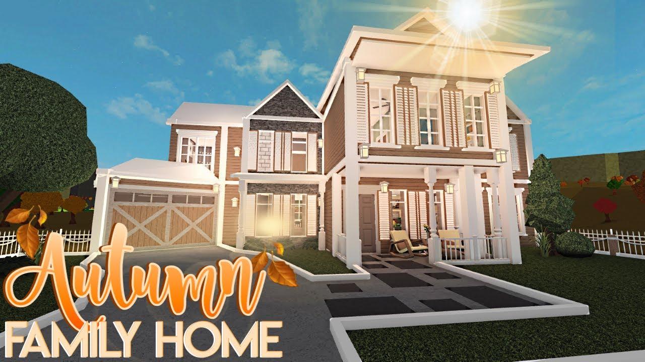 Autumn Family Home 94k Nixilia Roblox Bloxburg Youtube