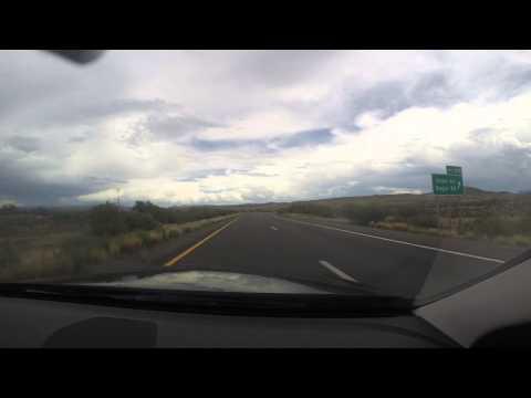 Phoenix Sky Harbor Airport to Sedona Arizona - One minute timelapse.