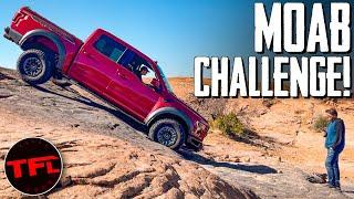 Ford Raptor vs. Ram TRX vs. Jeep Gladiator Sneak Peek: 3 Trucks Take On Moab's Frame Bender!