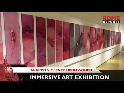 Immersive art exhibition in Rome stands against violence inflicted upon women