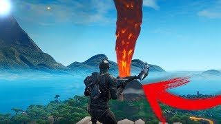 HOW TO TRIGGER THE ERUPTION OF THE VOLCANO IN FORTNITE WITH THIS GLITCH !