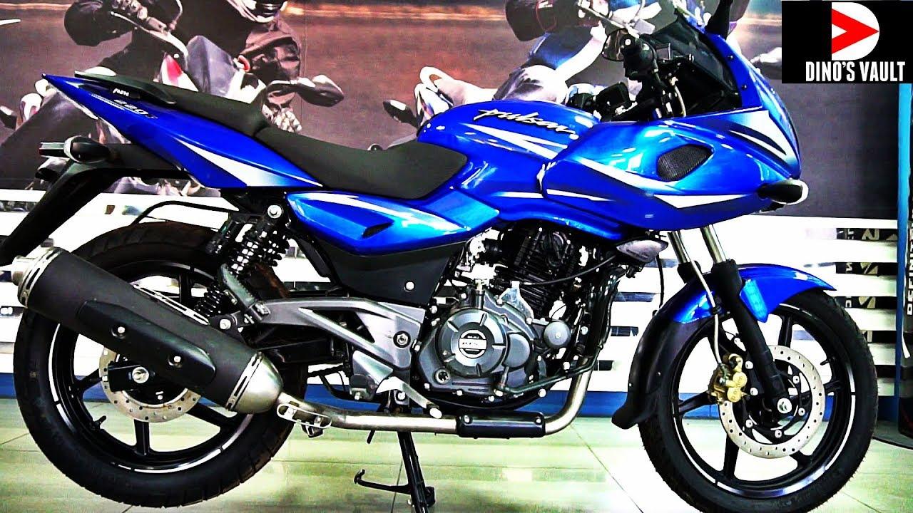 Pulsar 220f stunning blue color walkaround bikesdinos