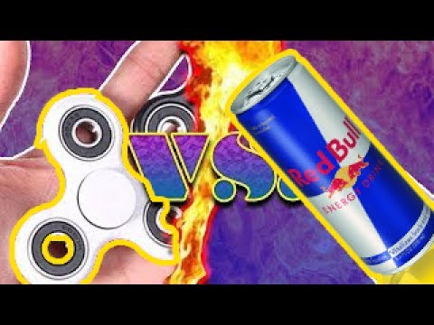 FIDGET SPINNER VS RED BULL! *SHOCKING RESULT*