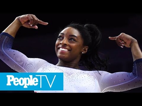Simone Biles Makes History By Nailing Two Signature Moves And One Is Now Named After Her | PeopleTV