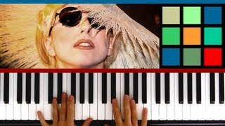 "How To Play ""Bad Romance"" Piano Tutorial / Sheet Music (Lady Gaga)"