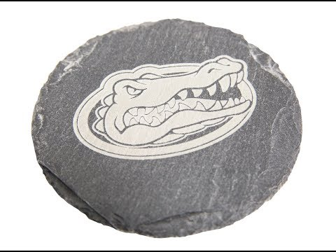 Etched in Stone - Laser Engraved Slate Coaster - Boss Laser
