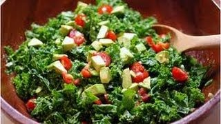 KALE-BELL PEPPERS-GREEN ONIONS-TOMATO SALAD