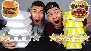 1 STERN VS 5 STERNE LIEFERSERVICE (BURGER) !!! | PrankBrosTV