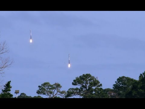 Falcon Heavy Test Flight and Booster Landing