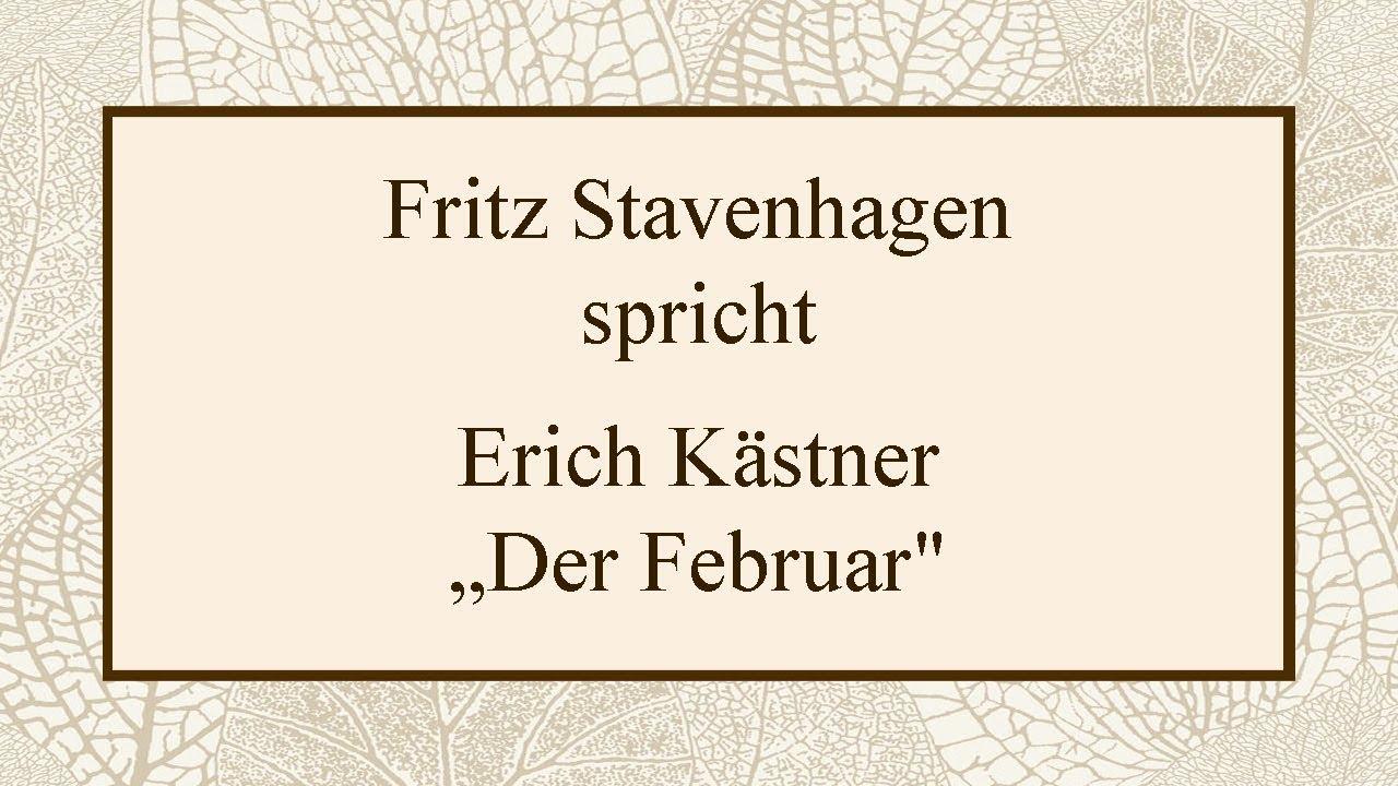 Erich Kästner Der Februar 1955