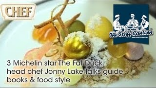 3 Michelin star The Fat Duck head chef Jonny Lake talks guide books & food style