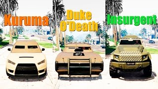 GTA Online: Kuruma vs. Duke O'Death vs. Insurgent