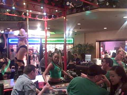 Downtown Las Vegas St Patricks Day, Fremont Street / Plaza Hotel and Casino