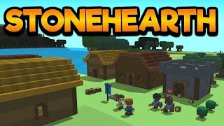 Stonehearth Gameplay - Cool pixel-building game - Stonehearth Playthrough - PC HD