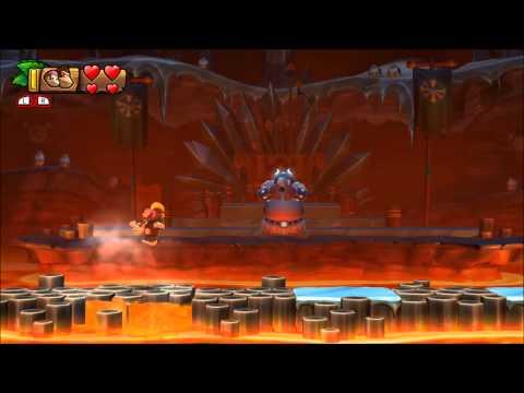 Donkey Kong Country Tropical Freeze - 100% Walkthrough - 6-Boss Volcano Dome