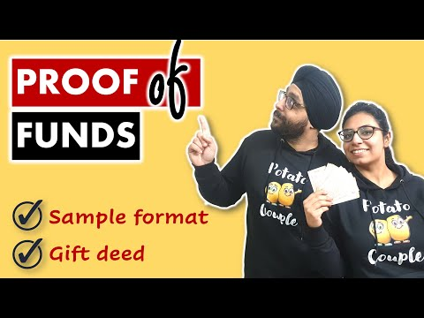 Proof of funds for Canada Immigration | Sample formats and how to make a gift deed