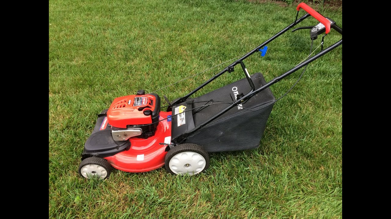troy bilt self propelled 6 75hp b s engine lawn mower final look rh youtube com troy bilt 190cc lawn mower parts troy-bilt lawn mower 675 series 190cc manual