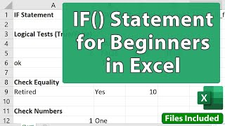 IF() Statement In Excel