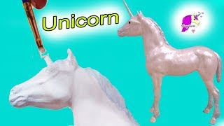 DIY Baby Unicorn Foal ! Breyer Horse Do It Yourself Painting Video