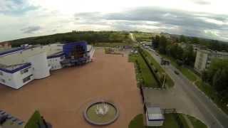 Клинский ледовый дворец с высоты
