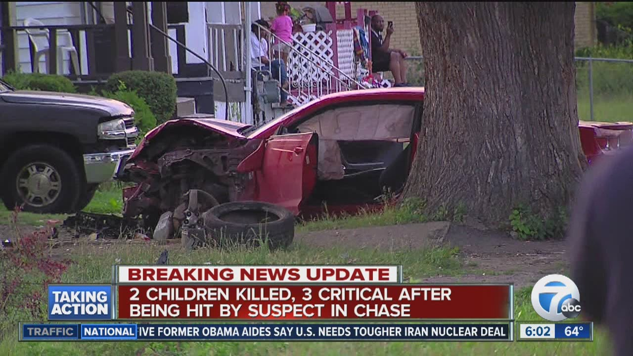 2 kids killed in police chase in Detroit