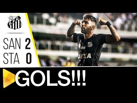 Santos 2 x 0 Santo André | GOLS | Paulistão (25/02/18)
