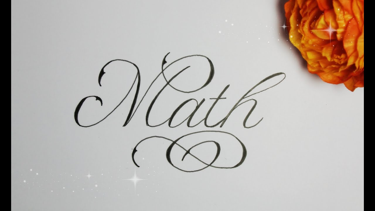 how to write in cursive fancy math youtube