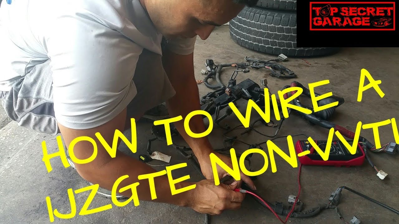 How To Wire A 1jzgte Non Vvti Youtube 1jz Wiring Harness And Ecu