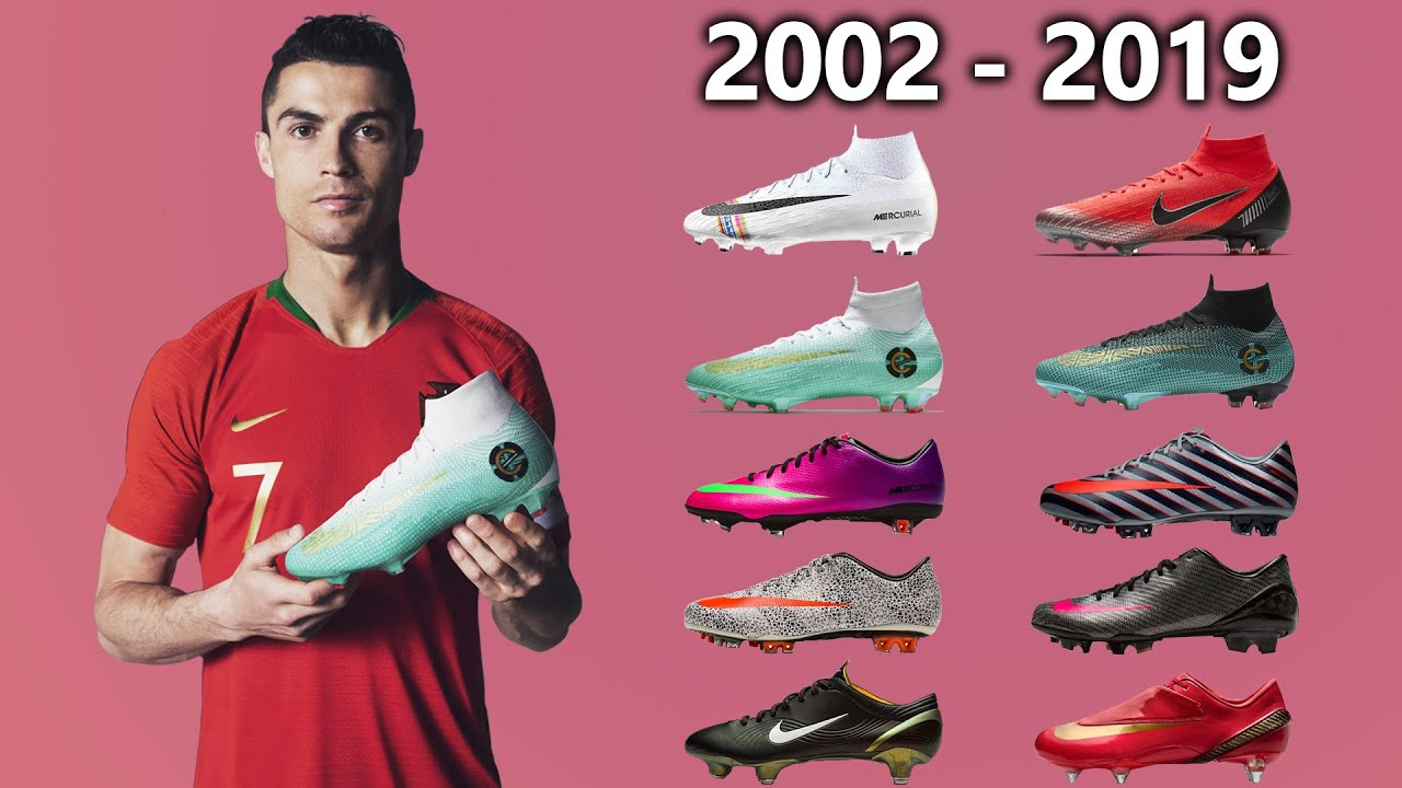 77b58facb15f CRISTIANO RONALDO - New Soccer Cleats & All Football Boots 2002-2019 ...