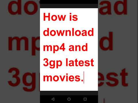 How To Download Latest movies HD mp4 And 3GP Movie Free