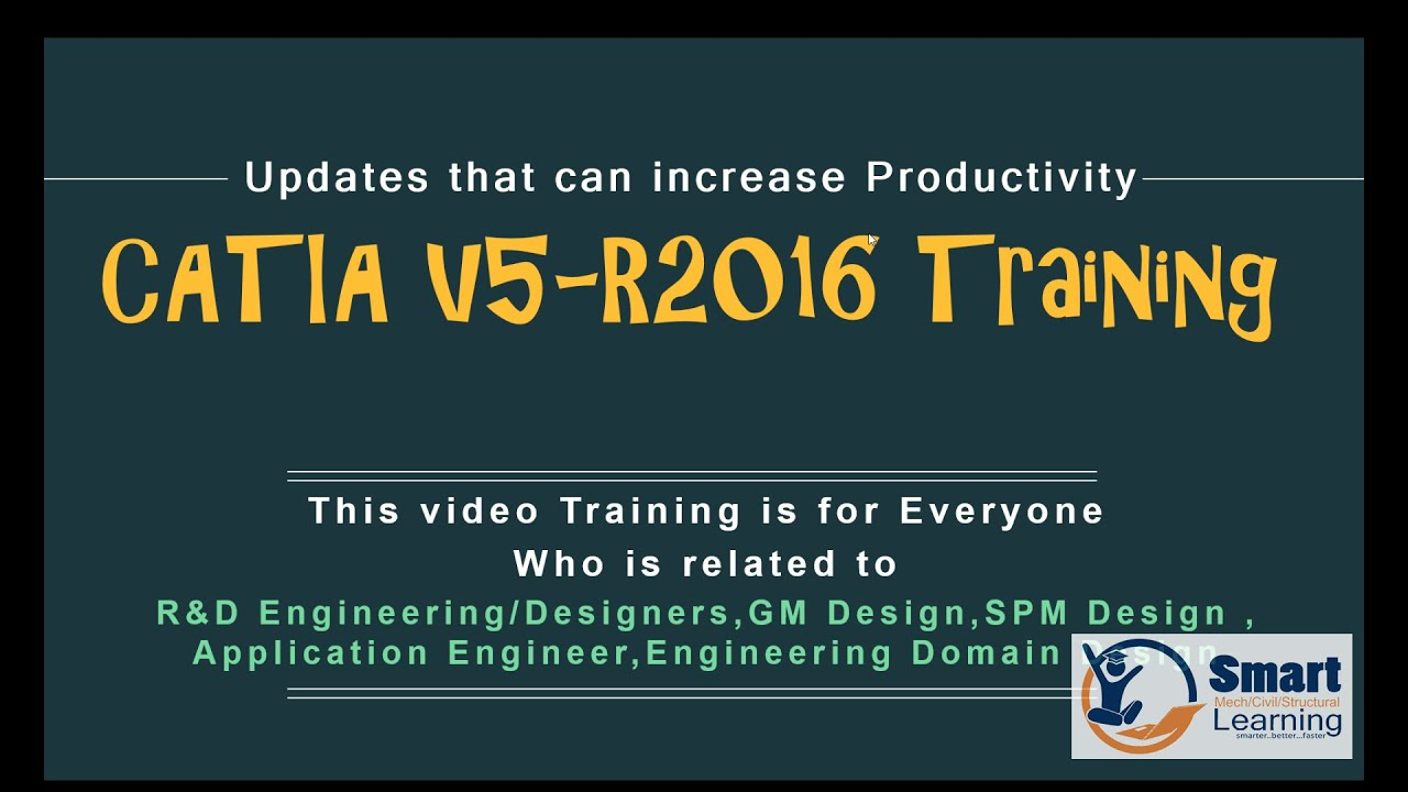 catia v5 6r2016 video training tutorial youtube rh youtube com catia v5 training manuals pdf catia v5 training material pdf