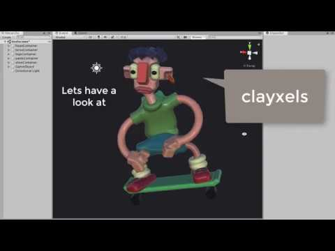lets have a look at Clayxels, yo!