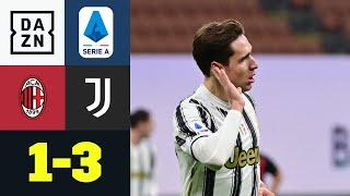 Doppelter Chiesa! Milan mit erster Niederlage: AC Mailand - Juventus 1:3 | Serie A | DAZN Highlights