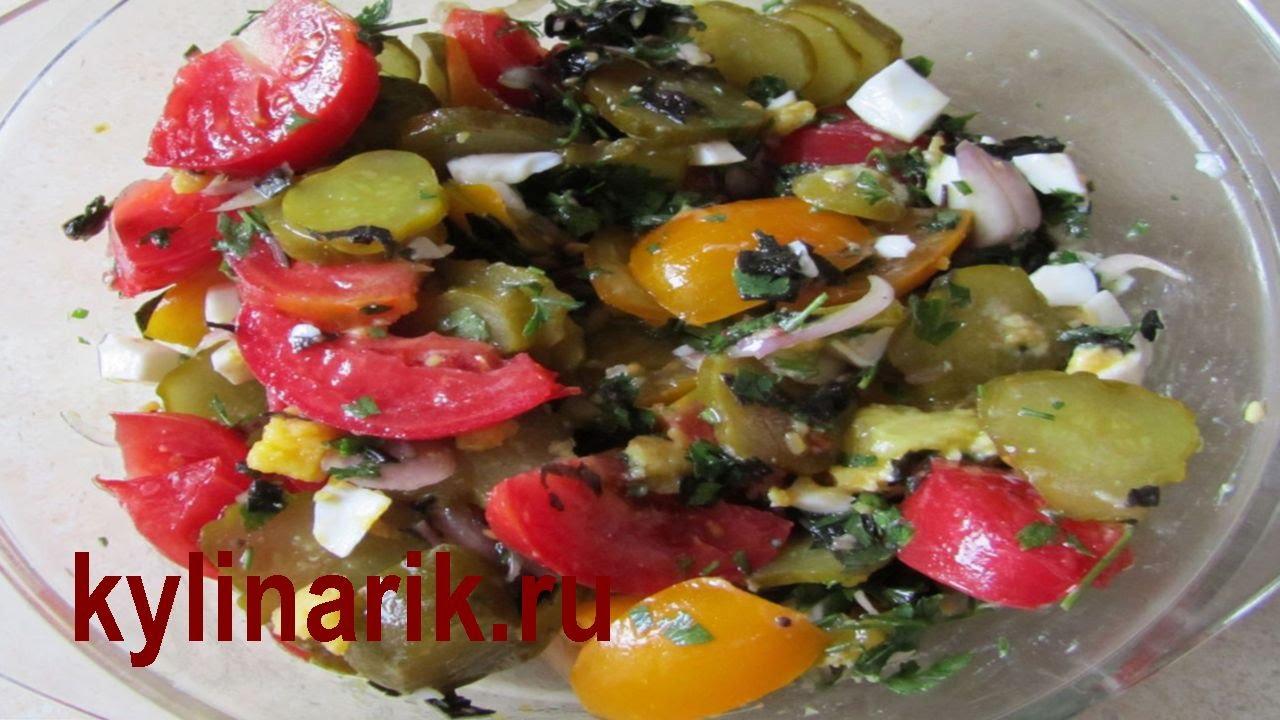 Салат на Скорую Руку. Простой Овощной Салат, Рецепт|салаты быстро и вкусно рецепты с фото