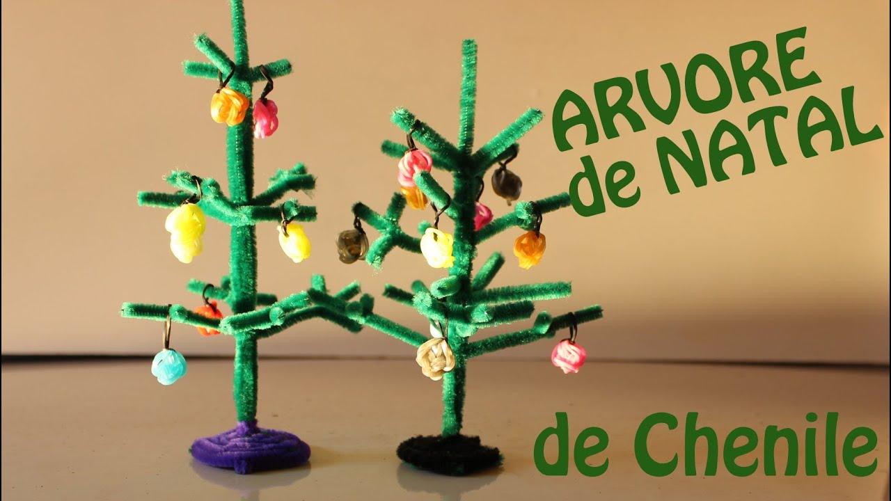Arvore de Natal - Artesanato com limpador de cachimbo ou haste de chenile