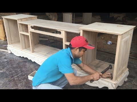 Amazing Woodworking Skills You Have Never Seen - How To Build a TV Cabinets Asian Style