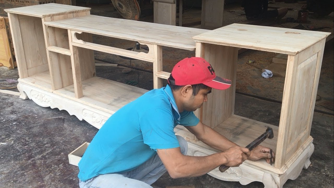 Amazing Woodworking Skills You Have Never Seen How To Build A Tv Cabinets Asian Style