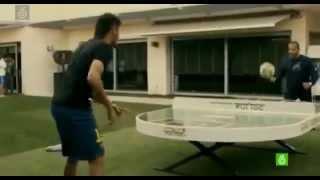 Neymar Playing Table Tennis with Football Ball 15/11/2014
