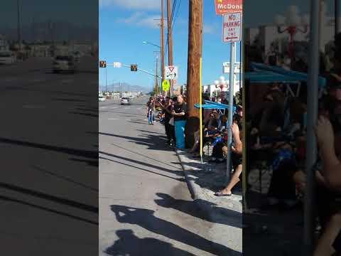 Ysleta High School Sep 2018 El Paso Texas homecoming parade  wierd voice caught in parade creepy!