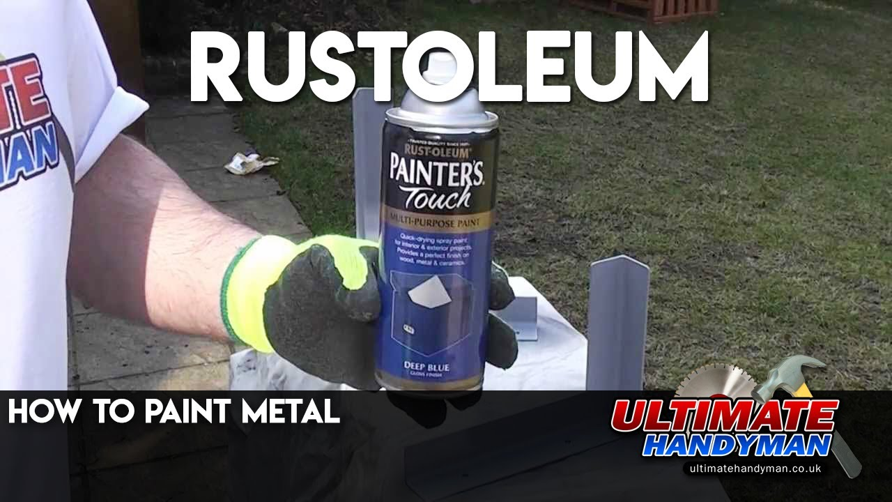 how to paint metal rustoleum youtube. Black Bedroom Furniture Sets. Home Design Ideas