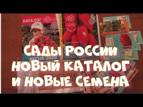 Сады России. Новый каталог  на 2020 год и новые семена.