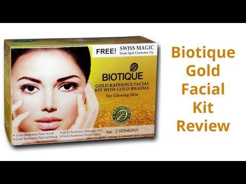 Biotique Gold Facial Kit Review | Best Gold Facial Kit |Gold Radiance Facial Kit with Gold Bhasma